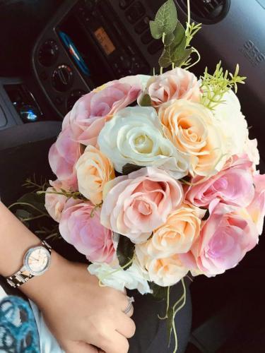 Buchet mireasa flori artificiale 350 lei
